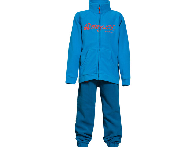 Bergans Smådøl Set Kinder light sea blue/deep sea/koi orange